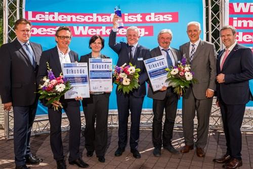 Preisverleihung bei Sommerfest der Handwerkskammer Dresden